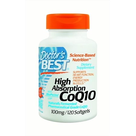 Doctor's Best High Absorption CoQ10 100 mg Tablets, 120 Ct