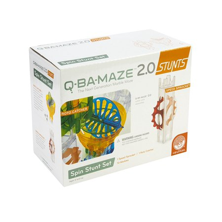 Q-BA-MAZE 2.0 Spin Stunt Set, TOYS THAT TEACH: Q-BA-MAZE 2.0 Spin Stunt Set from MindWare is a fantastic add-on playset for teaching children to embrace.., By