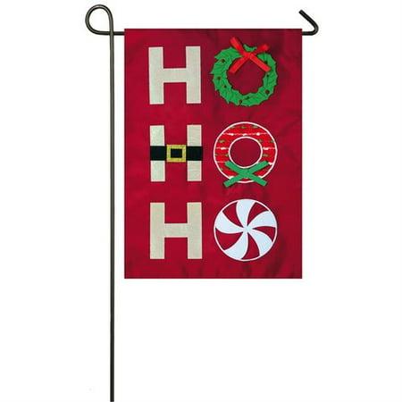 Evergreen Flag & Garden Ho Ho Ho 2-Sided Nylon 1'6 x 1'0.5 ft. Garden Flag for $<!---->