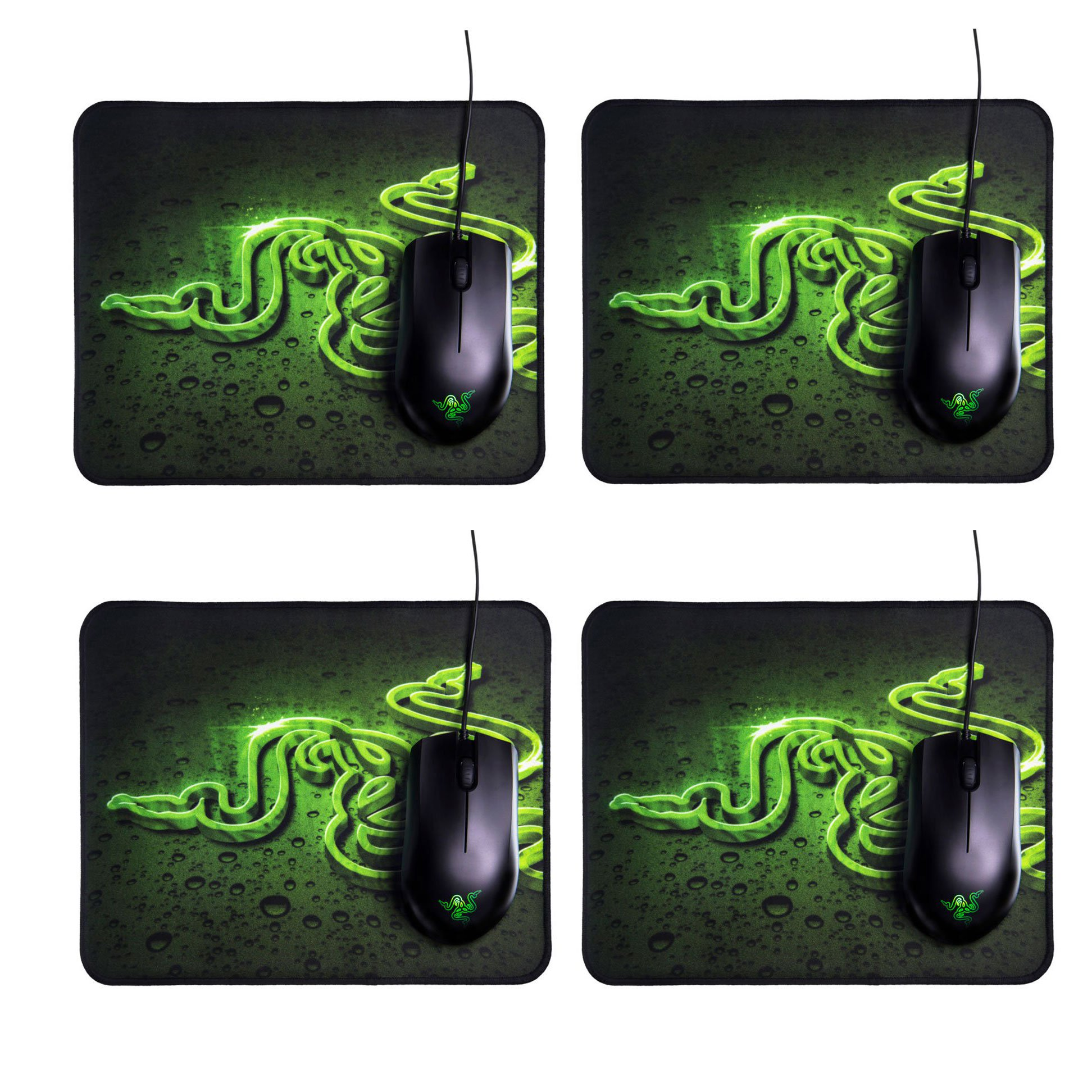 Razer Abyssus 2000 DPI Wired Mouse and Goliathus High Texture Mouse Pad (4 Pack)