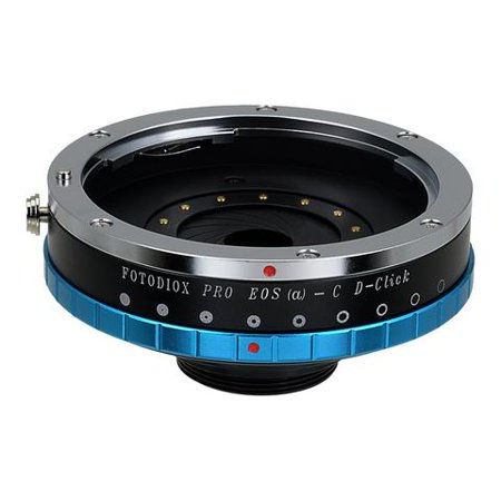 Fotodiox Pro Lens Mount Adapter with Built-in De-Clicked Aperture Iris, Canon EOS EF Lens (NOT EF-S Lens) to C-Mount (1