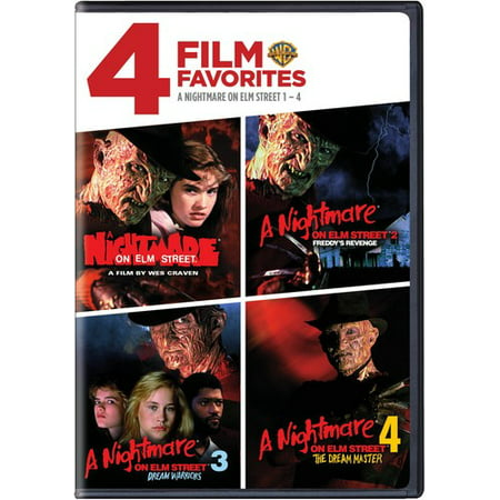 4 Film Favorites: A Nightmare on Elm Street 1-4 (DVD)