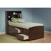 Tall Captain S Platform Storage Bed W Bookcase Headboard Size Twin Color