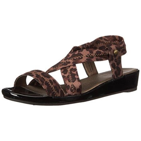 LifeStride Womens Debutante Mini Wedge Stretch Dress Sandals