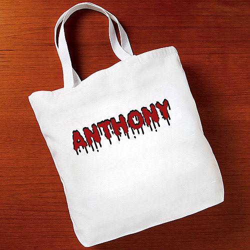 Personalized Halloween Blood Dripping Tote Bag