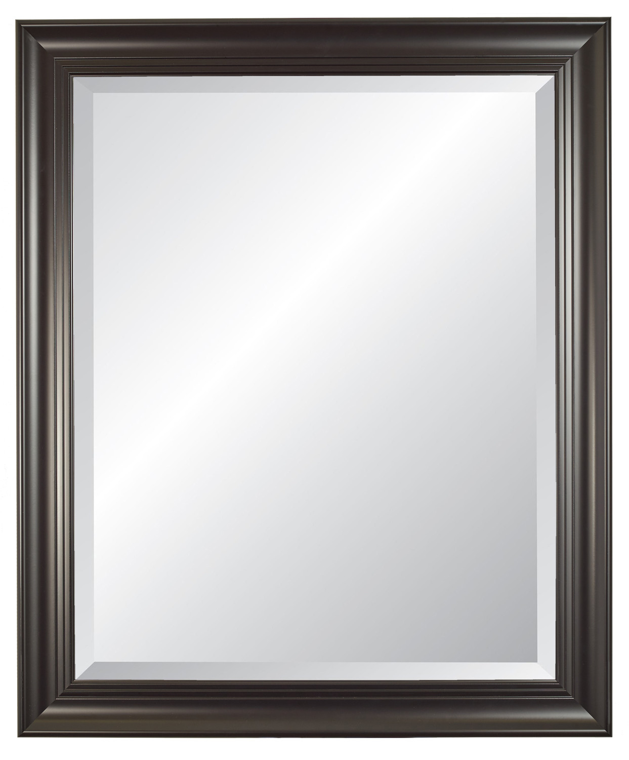 Carriage House Black Beveled Wall Mirror by Alpine Art & Mirror