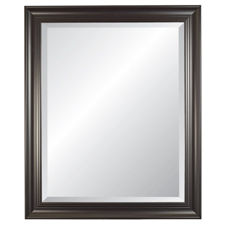 Image of Carriage House Black Beveled Wall Mirror