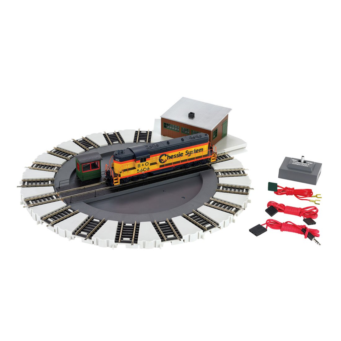 Bachmann Trains HO Scale Motorized Electric Train E-Z Track Turntable | 46299 by Bachmann Trains