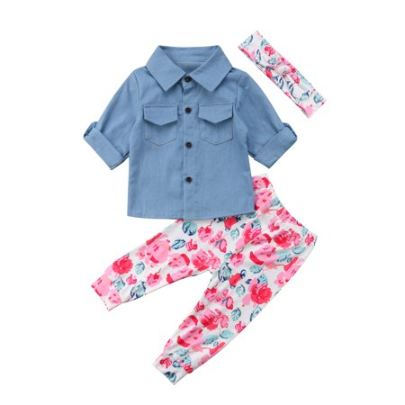 825328175 2018 The New Hot Selling Autumn Hot Fashion Cute Baby Girl Denim T ...