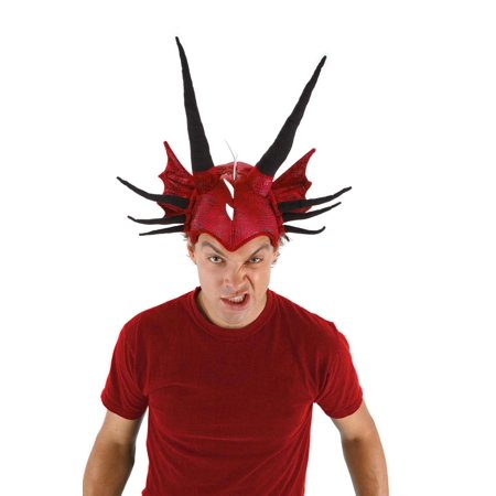 Adjustable Red Dragon Costume Headpiece Adult - 1920s Headpiece