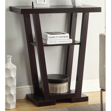 2 shelf v console table. Black Bedroom Furniture Sets. Home Design Ideas