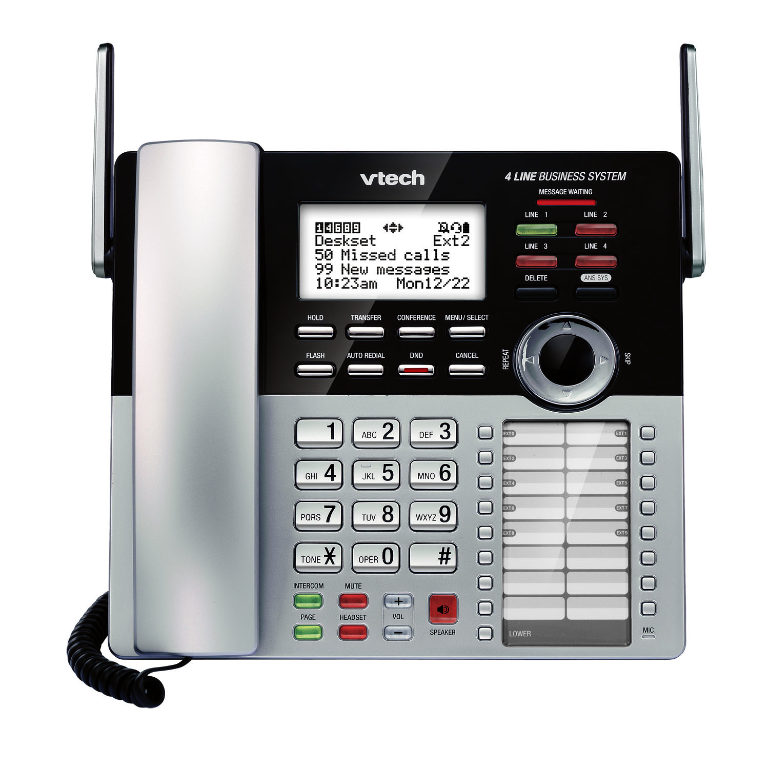 VTech CM18245 4 Line Small Business System deskset