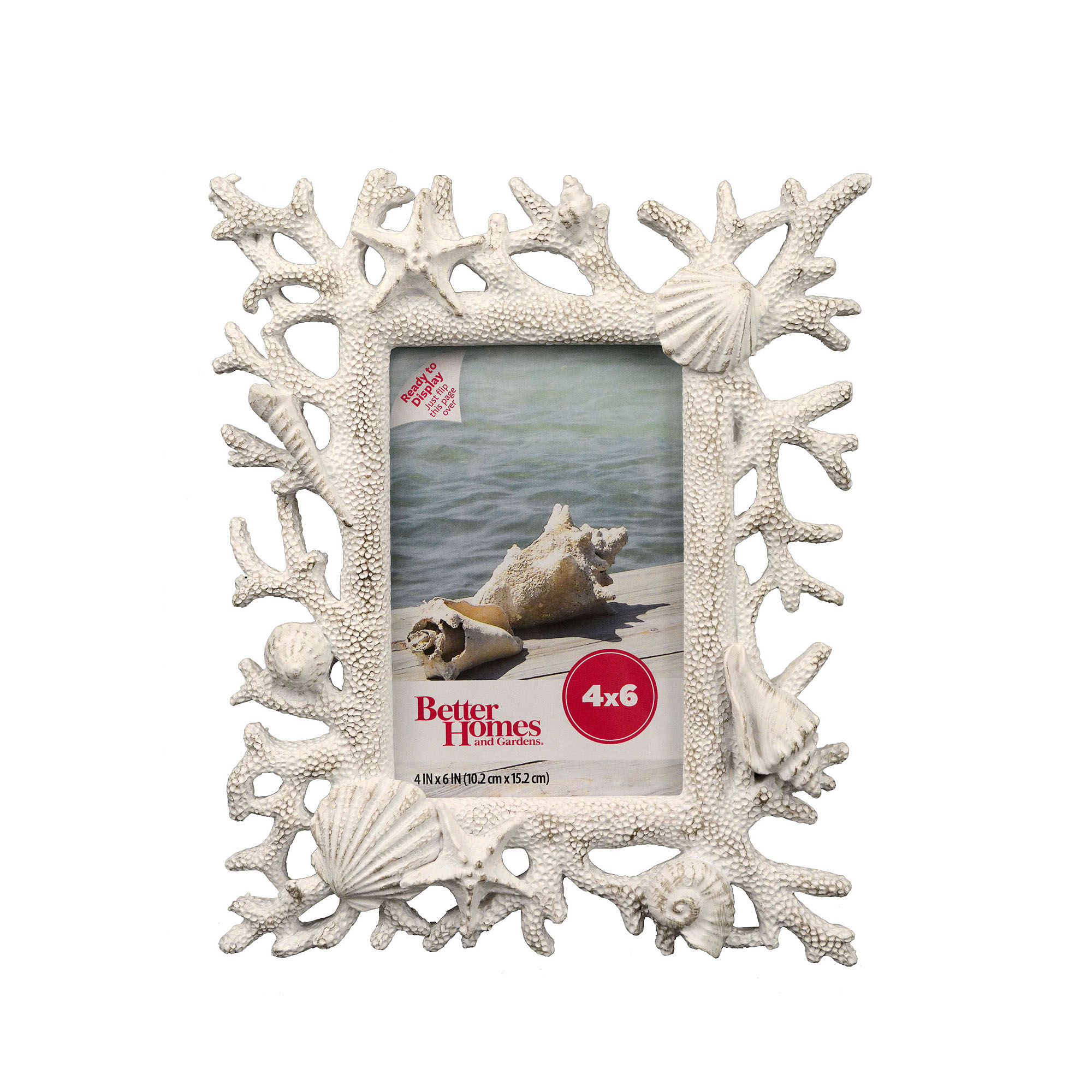 Better Homes and Gardens 4x6 Coastal Frame, Distressed White ...