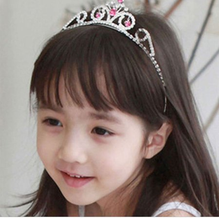 Cute Lively Baby Girls Crown Princess Hair Ribbon Hardback Pretty Bridal Hair Clasp - image 5 of 5