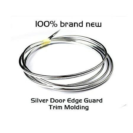 98FT Universal Chrome Silver / Black / White Moulding Trim Window Rim Duct Vent Wheel Car Strip (Silver)