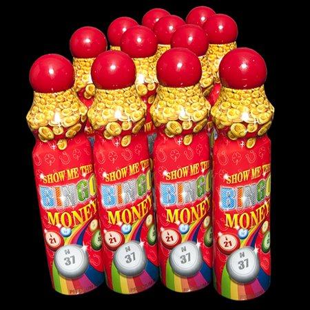 Show Me The Bingo Money Daubers - Red - 12 per pack (Mes Halloween Bingo)