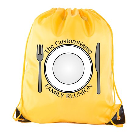 Maroon Round Serving Plate (Thanksgiving Plate with custom name- Family Reunion Party Favor Bags )
