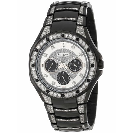 Bulova Crystal Silver Dial Stainless Steel Men's Watch 98C102