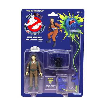 """Peter Venkman & Grabber Ghost The Real Ghostbusters Action Figure 4.5"""""""