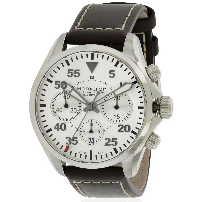 Hamilton Khaki Pilot Automatic Chronograph Leather Men's Watch, H64666555 by Hamilton