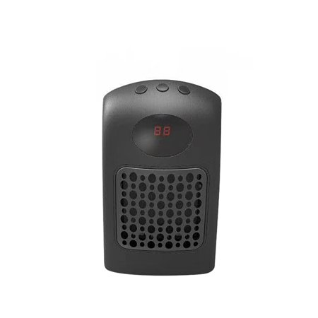 Transformer 900w Timer (Mini Wall-Outlet Space Heater 900W Ceramic Heating Heater with Thermostat Adjustable Speeds & Timer for Office Bedroom Hotel AC110V-250V Black EU)