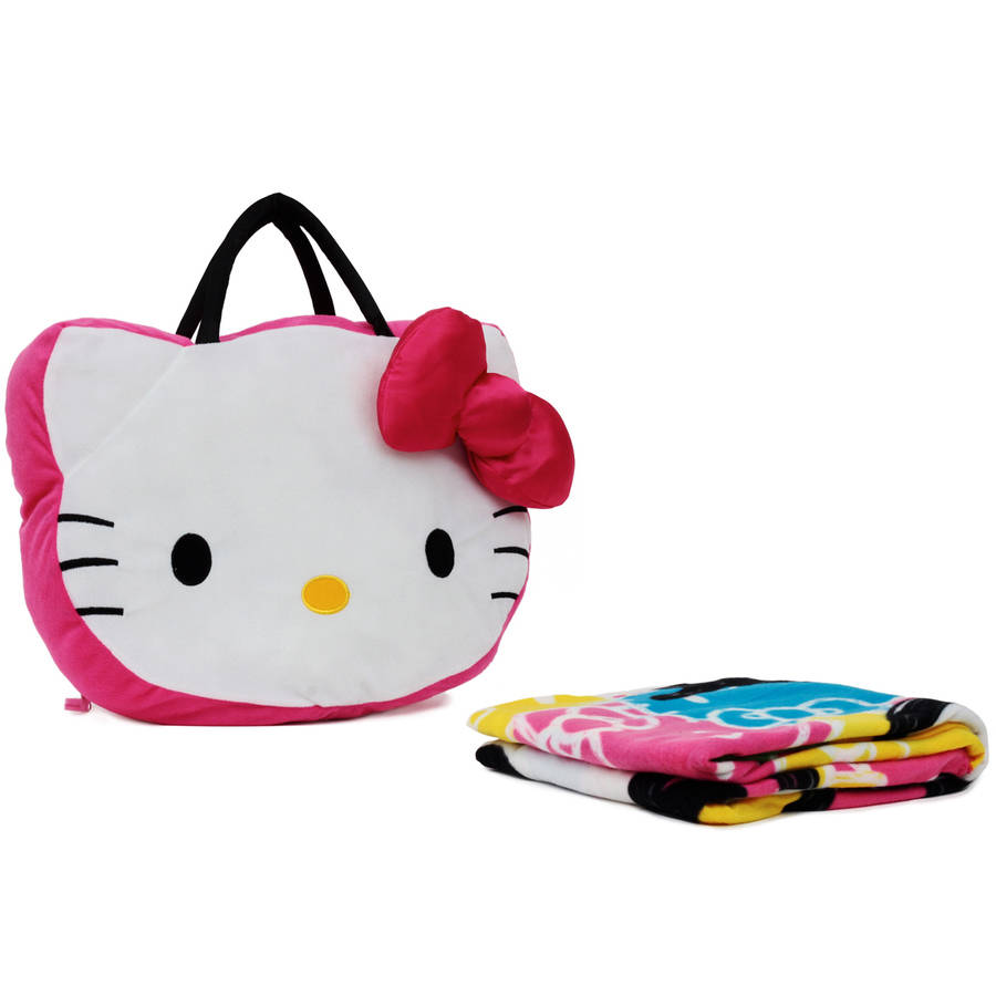 Hello Kitty Throw on The Go - Pillow and Throw Set