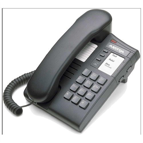 Aastra A1219-0000-10-00 8004 Charcoal Single-line Analog Telephone Line Powered Flash Mute R