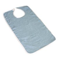 Pack of 3 Terry Adult Bibs with Velcro Closure (Blue)