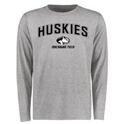 Michigan Tech Huskies Proud Mascot Long Sleeve T-Shirt - Ash