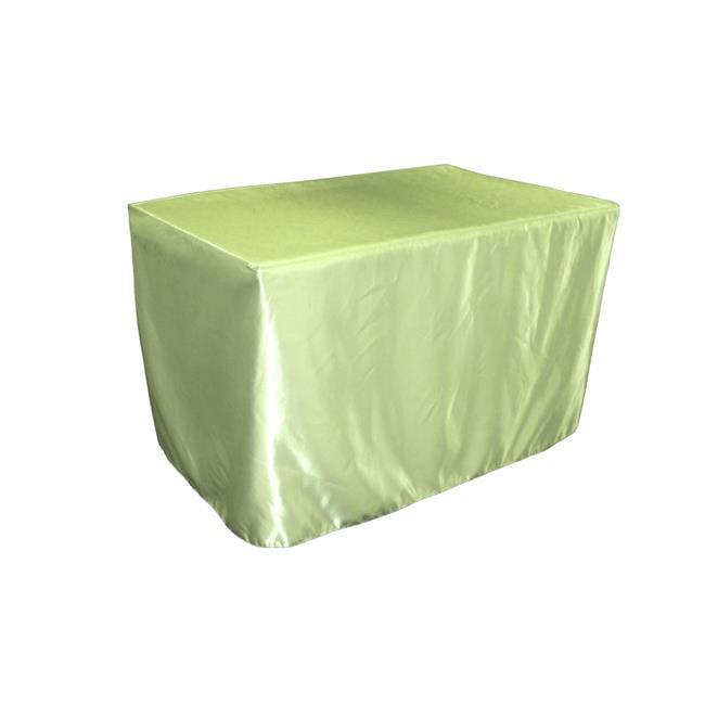 LA Linen TCbridal-fit-48x24x30-SageB19 Fitted Bridal Satin Tablecloth, Sage 48 x 24 x 30... by LA Linen