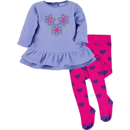 Fleece Dress with Tights, 2pc Outfit Set (Baby - Personalized Infant Dresses