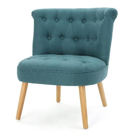 Donna fabric tufted chair dark teal - Dark teal accent chair ...