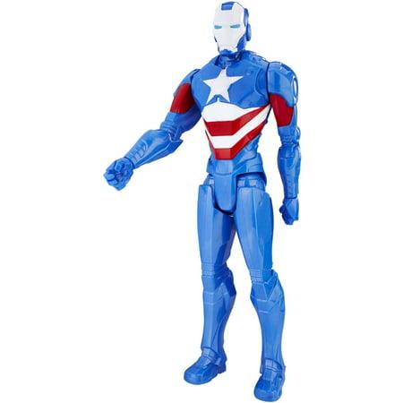 "Marvel Titan Hero Series 12"" Iron Patriot Figure"