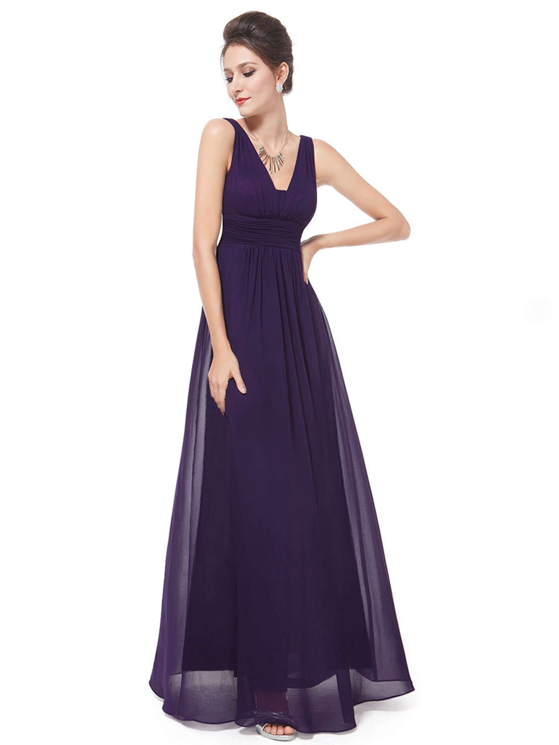 Ever-Pretty Women's Elegant Long Maxi V Neck Chiffon Evening Cocktail Prom Party Bridesmaid Wedding Guest Formal Dresses... by Ever Pretty Garment Inc.