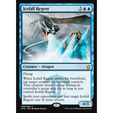 MtG Dragons of Tarkir Icefall Regent [Foil]