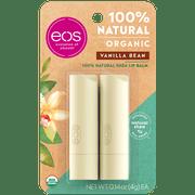 eos 100% Natural & Organic Lip Balm Stick - Vanilla Bean   0.14 oz   2 count