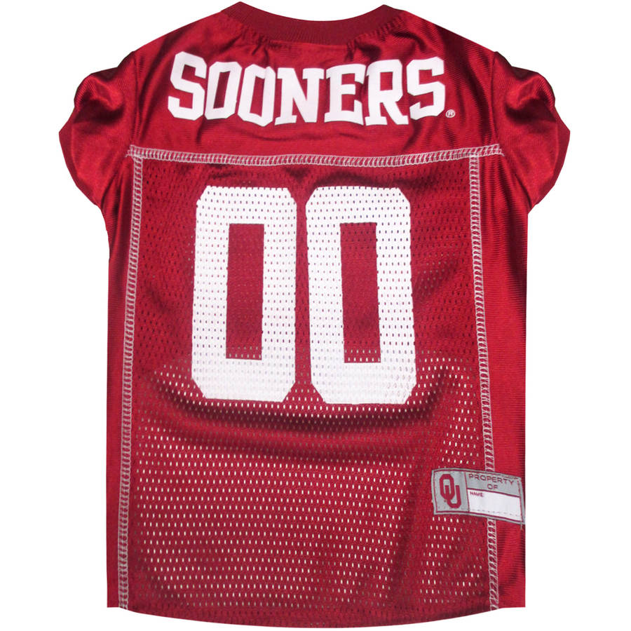 Pets First College Oklahoma Sooners Collegiate Dog Jersey, Available in Various Sizes