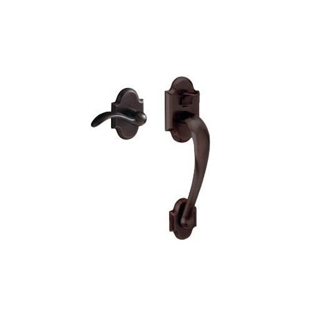 Victorian Venetian Bronze Two Handle (Baldwin 85353.ACRH Boulder Sectional Entry Right Handed Handle Set Kit with Inte, Venetian Bronze )