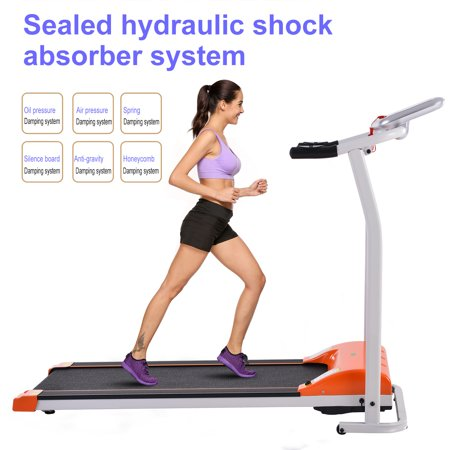 Ancheer Foldable Electric Treadmill Fitness Home Gym Treadmill with Heart Pulse System/ Low Noise/Adjustable Cushioning/LCD Display