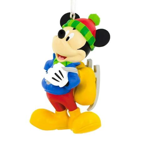 Hallmark Disney Mickey Mouse Skating Christmas Ornament ()