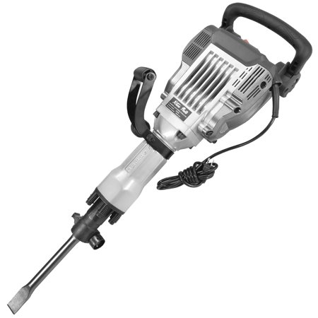 3/4 Electric Hammer Drill (XtremepowerUS 3600W HD Electric Demolition Jack Hammer Concrete Breaker (2) Chisel & Point Chisel Bit Hand Gloves w/)