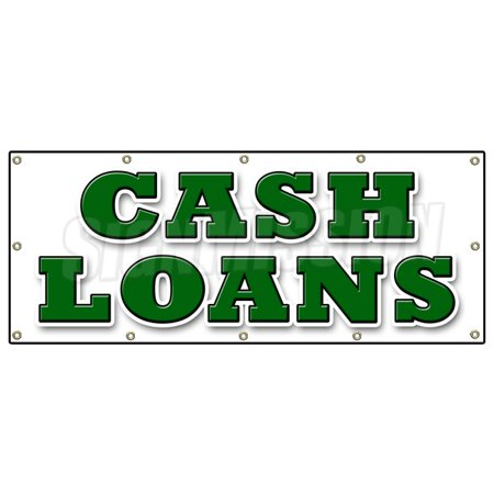 48 X120  Cash Loans Banner Sign Payday Advance Title Pawn Shop For Gold