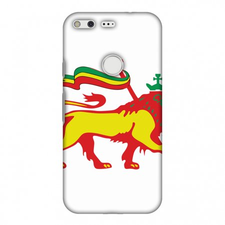 Google Pixel XL Case, Premium Handcrafted Printed Designer Hard Snap on Shell Case Back Cover for Google Pixel XL - Lion of Judah- Ethiopia flag ()