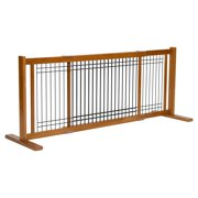 Dynamic Accents 20 in. Wood/Wire Large Freestanding Gate - Artisan Bronze