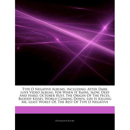 Articles on Type O Negative Albums, Including: After Dark (Live Video Album), for When It Rains, Slow, Deep and Hard, October Rust, the Origin of the