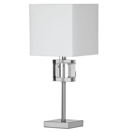 Dainolite 1 Light Table Lamp Square Crystal - Polished Chrome