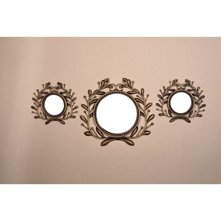 All American Collection All New Seperated 3 Piece Decorative Mirror Set, Wall Accent Display