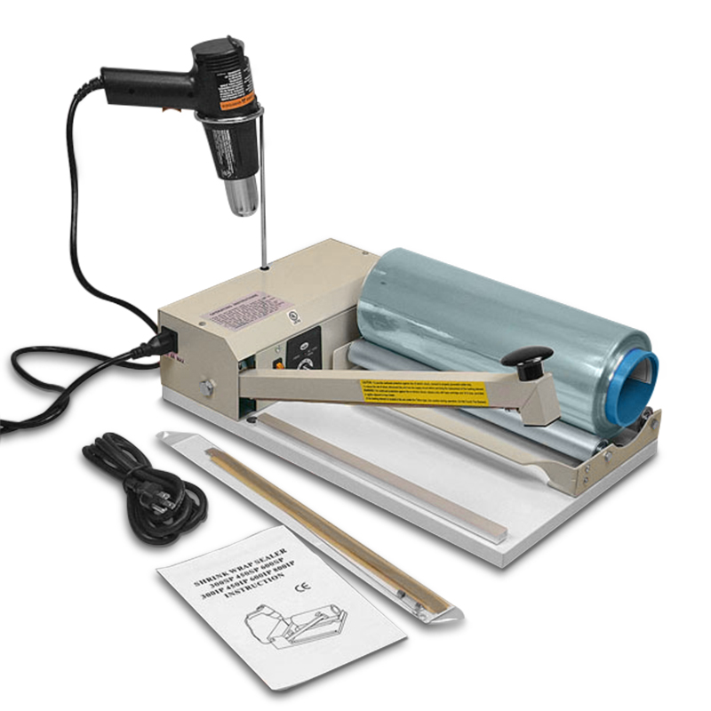 "24"" I-Bar Shrink System Sealer Heat Gun & Film by Paper Mart"