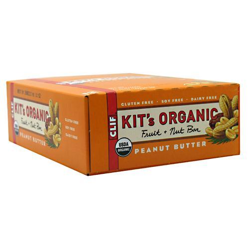 Clif Kit's Organic Fruit &  Nut Bar, Peanut Butter, 12 Bars