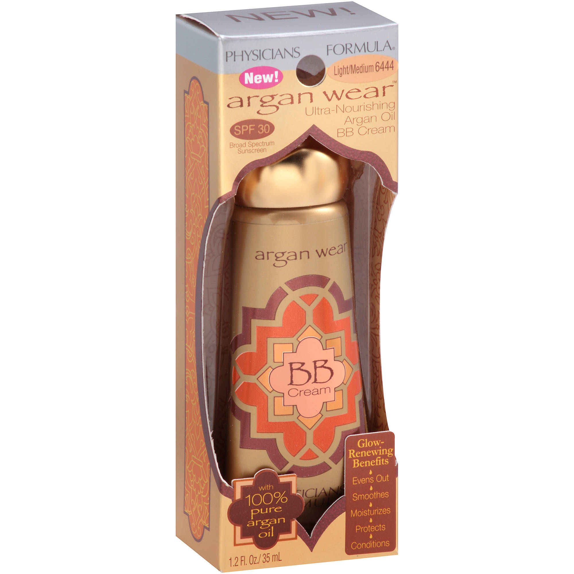 Physicians Formula Argan Wear Ultra-Nourishing Argan Oil BB Cream, 6444 Light/Medium, 1.2 fl oz